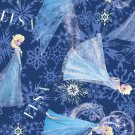 "Disney's ""Frozen"" Elsa Character Toss on Blue B/G-Exclusive Printing-BTY"