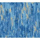 Blue & Gold Color Wash Fabric-Red Rooster-Gr8 Fabric for Blending-Fat Quarter