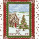 Gingerbread Cottage Panel by Windham Prints-Christmas Tree-Snow-Candy Canes