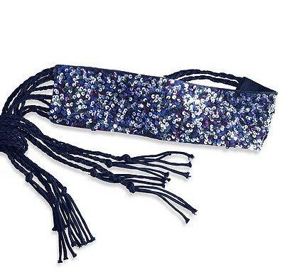Women's Sequin Tassel Belt Purple