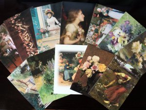 Victorian Greetings Card Assortment - 12 Pack with Envelopes