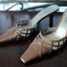Moda Bronze Leather Mules