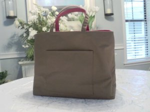 Reversible Canvas Tote With Bonus Matching Cosmetic Bag