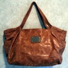 Chateau Burled Leather Look Tote Bag