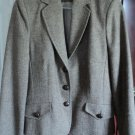 Herringbone Tweed Jacket Brown