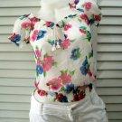 Hollister Floral Gauze Shirt