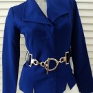 Boston Proper Fitted Knit Jacket With Detachable Belt