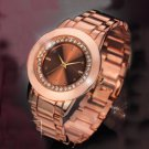 Crystal Accent Rose Gold Watch