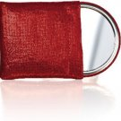 Red Metallic Pocket Mirror With Pouch
