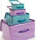 Multi-Color Storage Boxes Set of 4