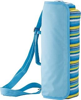 Blue Striped Beach Blanket WIth Carry Strap