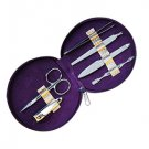 Royal Purple Manicure Set with Case