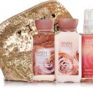 Bath & Body Works Warm Vanilla Sugar Bath Trio With Glamour Bag