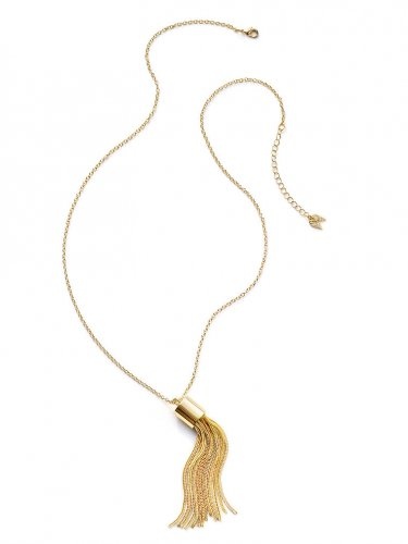 Victoria's Secret Golden Tassel Necklace