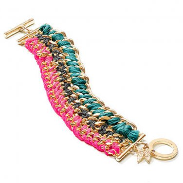 Victoria's Secret Multicolor Woven Toggle Bracelet