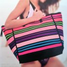 Victoria's Secret Weekender Tote Multicolor Stripe