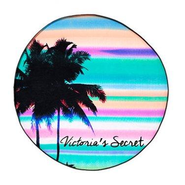 Victoria's Secret Tropical Stripes Roundie Beach Towel