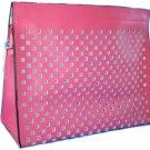 Pink Lasercut Cosmetic Clutch