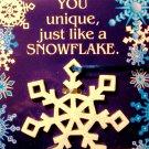 Snowflake Keepsake Ornament With Card
