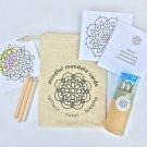 Mindful Mandala Portable Coloring Cards Gift Set