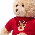 Plush Reindeer-Sweater Teddy Bear