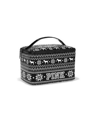 Victoria's Secret Pink Limited Edition Fairisle Print Makeup Case