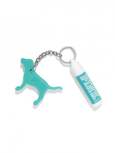 Victoria's Secret Lip Balm Mini Dog Keychain Cool & Bright