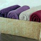 4-Piece Waffle Weave Washcloth Set With Basket
