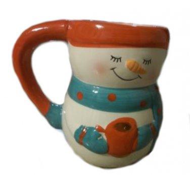 Snowmen Cocoa Mugs Set of Two