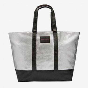 Victoria's Secret Limited Edition Metallic Silver Getaway Weekender