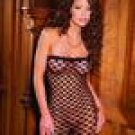 Seamless triple diamond net pattern bandeau mini dress