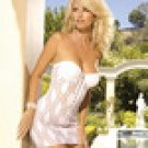 Underwire mini dress with hook and eye front