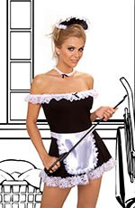 4 pc maid costume