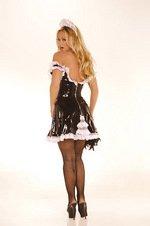 Vinyl maid costume