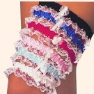 garters with lace ruffles