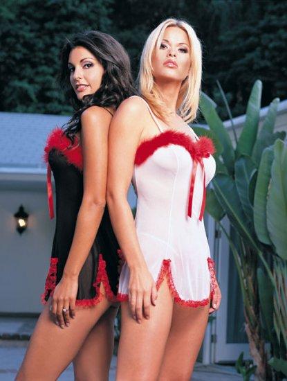 2 pc mesh marabou dress