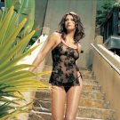 2 pc spanish rose lace dress and g string