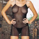 2 pc fishnet mini dress with g -string