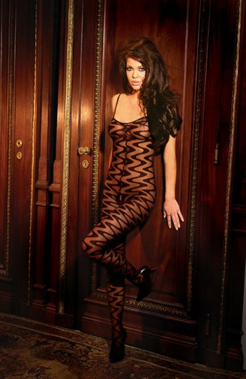 Wave body stocking with open crotch