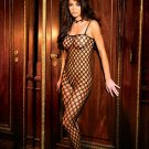 Seamless lycra crochet body stocking with open crotch