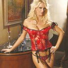 Exquisite floral tapestry corset with hook n eye front boning