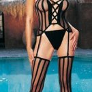 3 pc criss cross cami garter