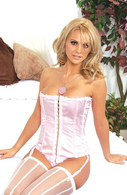 Exquisite satin strapless corset with boning/