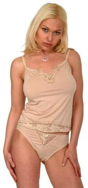 Stretch nylon-lycra camisole