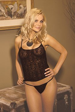 Lace cami with adjustable straps/