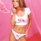 Be mine crop top with matching thong/