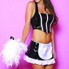 3 pcs vinyl french maid costume