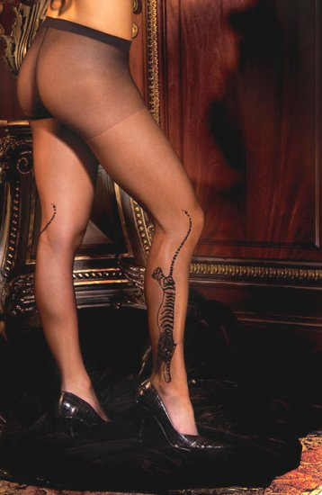 Tiger sheer pantyhose