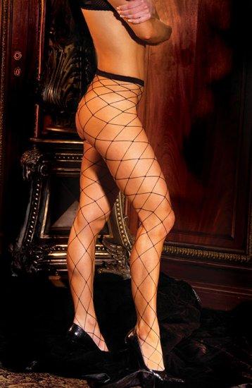 Seamless lycra diamond net pantyhose