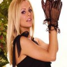 Sheer mesh gloves with ruffle trim